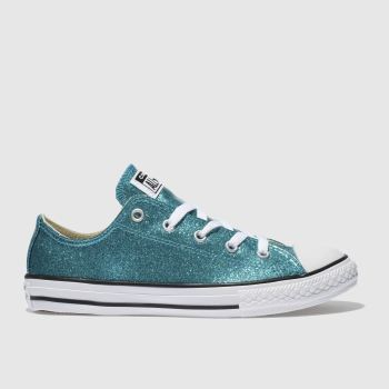 Converse Turquoise ALL STAR OX GLITTER Girls Youth