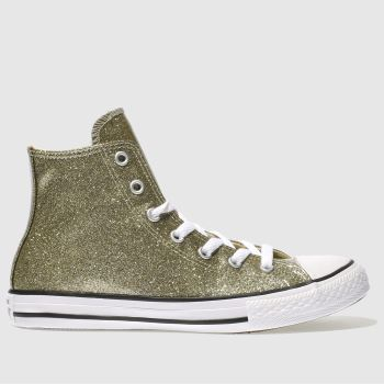 CONVERSE GOLD ALL STAR HI GLITTER TRAINERS YOUTH
