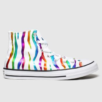 Converse Multi All Star Zebra Hi Girls Youth