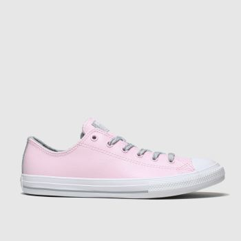 Converse Pink All Star Sparkle Lace Lo Girls Youth