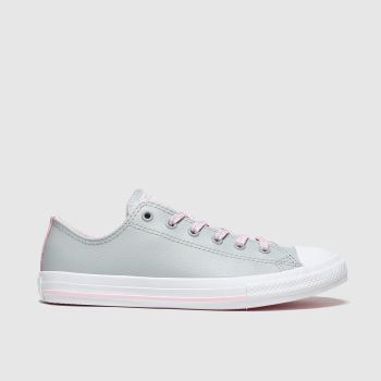 Converse Light Grey All Star Sparkle Lace Lo Girls Youth