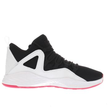 NIKE JORDAN  BLACK & WHITE JORDAN FORMULA 23 GIRLS YOUTH TRAINERS