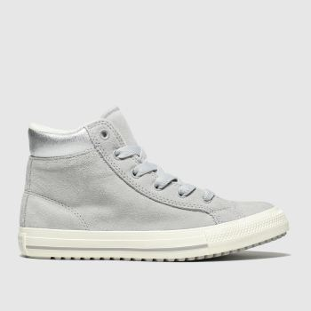 converse grey all star hi pc boot trainers youth