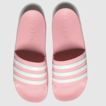 Adidas Pink Adilette Shower Slide c2namevalue::Girls Youth