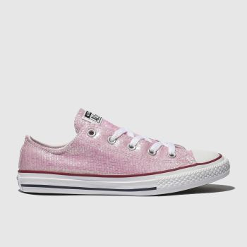Converse Pink All Star Lo Girls Youth