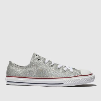 Converse Silver Chuck Taylor All Star Lo Girls Youth