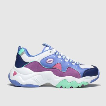 Skechers White & Purple Dlites 3.0 Zenway Girls Youth