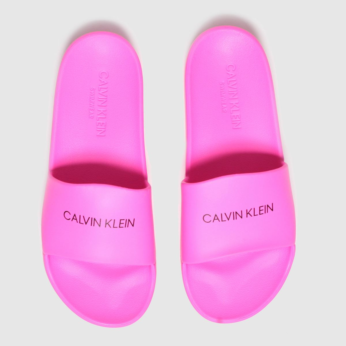 Calvin Klein Pink Slides Trainers Youth