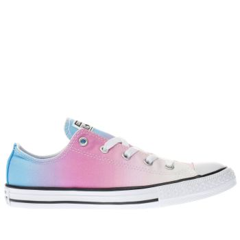 CONVERSE PINK ALL STAR OX SUNSET WASH GIRLS YOUTH TRAINERS