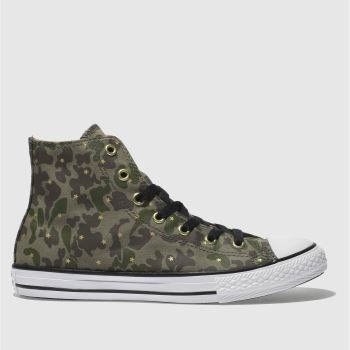 Converse Khaki CHUCK TAYLOR ALL STAR HI Girls Youth
