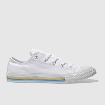 Converse White All Star Lo Stripe Girls Youth