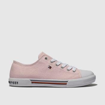 Tommy Hilfiger Pale Pink Lace Up Sneaker Girls Youth