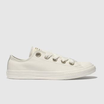 Converse White All Star Big Eyelets Lo Girls Youth