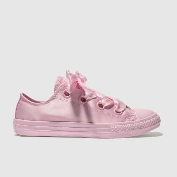 CONVERSE PINK ALL STAR BIG EYELETS LO TRAINERS YOUTH