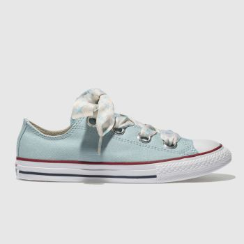 CONVERSE PALE BLUE ALL STAR BIG EYELETS LO TRAINERS YOUTH