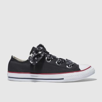 Converse Black All Star Big Eyelets Lo Girls Youth