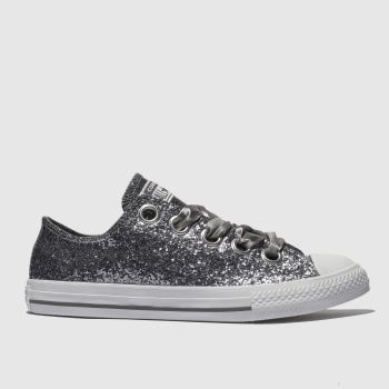 Converse Silver All Star Big Eyelets Lo Girls Youth