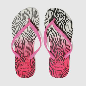 Havaianas White Slim Animal Girls Youth
