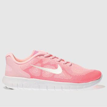 Nike Pink Free Run 2017 Girls Youth