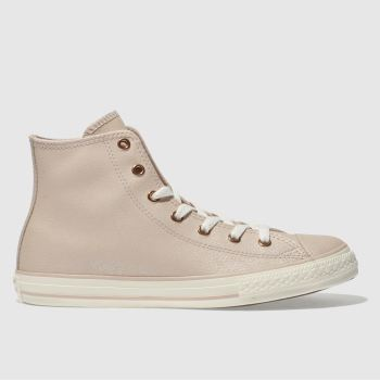CONVERSE PALE PINK CHUCK TAYLOR ALL STAR HI TRAINERS YOUTH