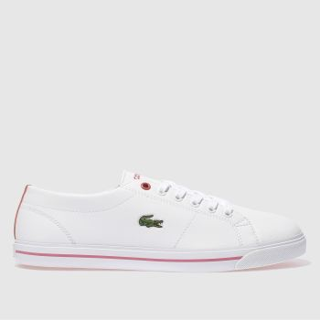 Lacoste White & Pink RIBERAC Girls Youth