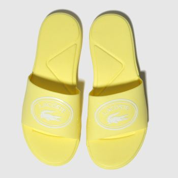 Lacoste Yellow L.30 Slide Girls Youth