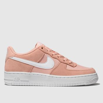 nike peach air force 1 trainers youth