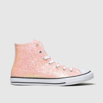 Converse Peach All Star Hi Glitter Girls Youth
