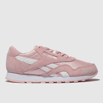 REEBOK PINK CLASSIC NYLON TRAINERS YOUTH