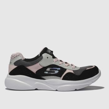 Skechers Black & Grey Meridian Charted Girls Youth