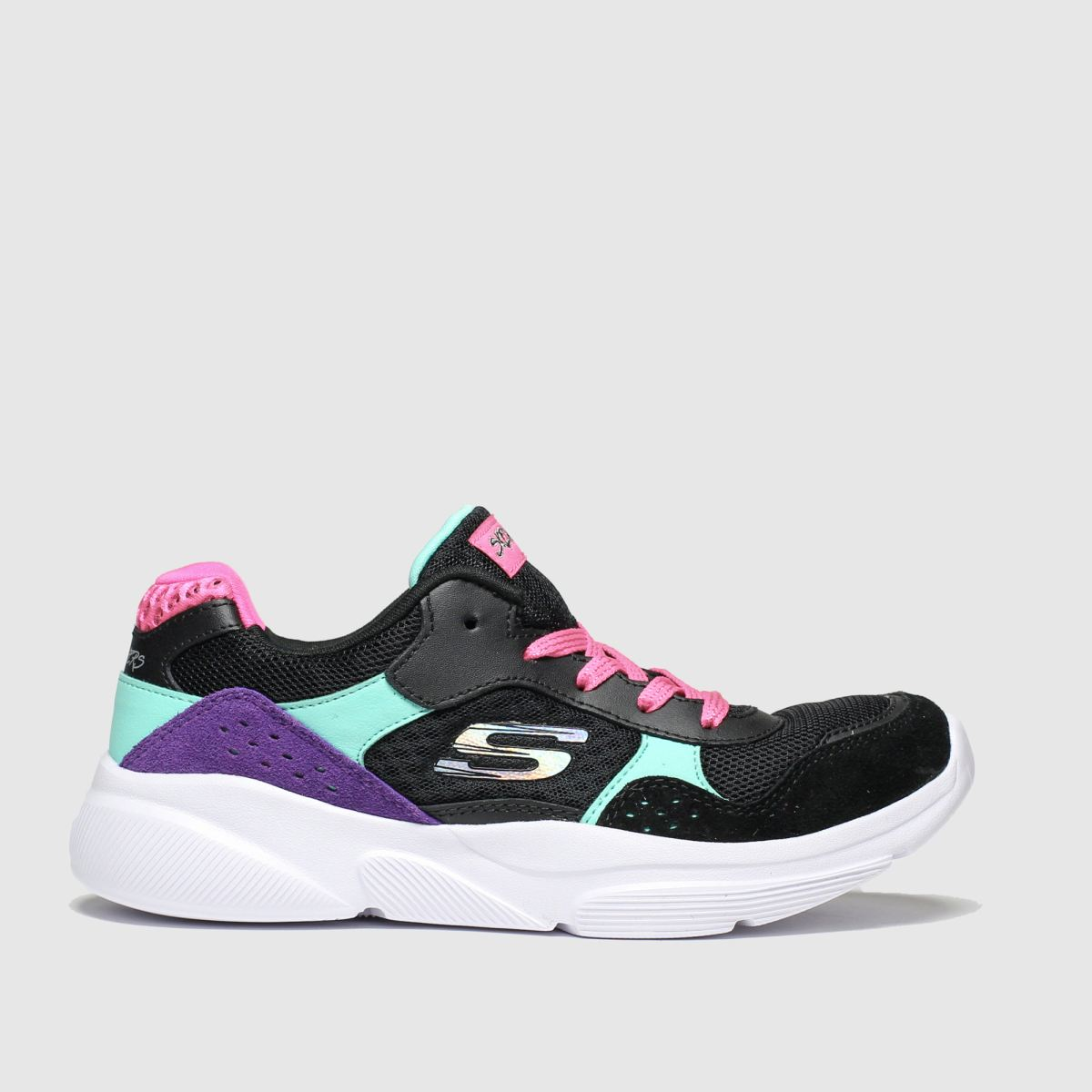 Skechers Black & Pink Meridian Charted Trainers Youth