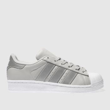 uznane marki amazonka wysoka moda Girls light grey adidas superstar trainers | schuh