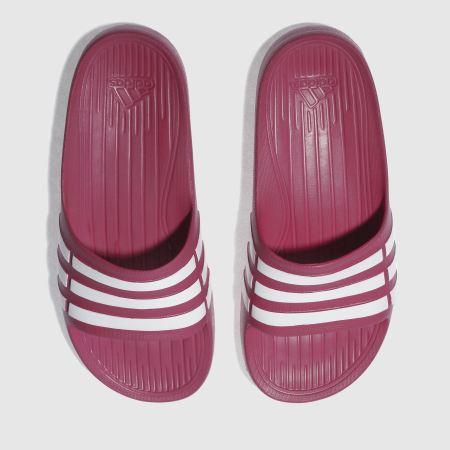 982d73510 Girls pink adidas duramo slide trainers