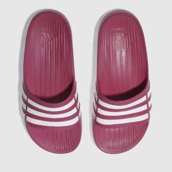 ADIDAS PINK DURAMO SLIDE SANDALS YOUTH