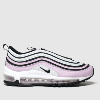 Nike white & pink air max 97 trainers youth