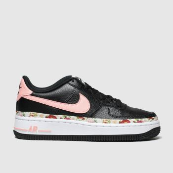 Nike Black & pink Air Force 1 Vf Girls Youth