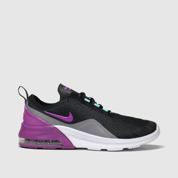 Nike Black & Purple Air Max Motion 2 Girls Youth