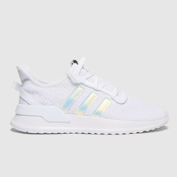adidas White & Silver U_path Run Girls Youth#