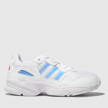 Adidas White & Silver Yung 96 Girls Youth