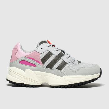 Adidas Light Grey Yung 96 Girls Youth