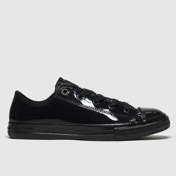 converse black all star lo mono trainers youth