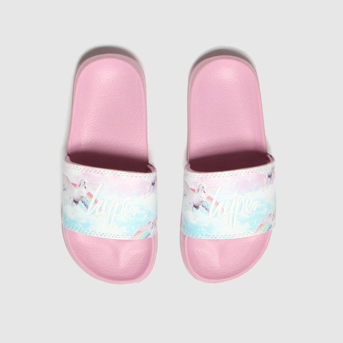 Hype Pink Pink Unicorn Slider Trainers Youth