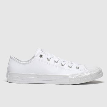 Converse White & Silver Lo Girls Youth
