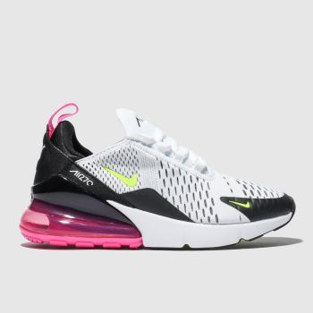 Nike White   Black Air Max 270 Girls Youth ef241cc92