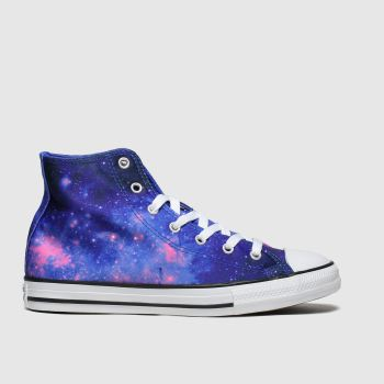 Converse Blue All Star Hi Miss Galaxy Girls Youth