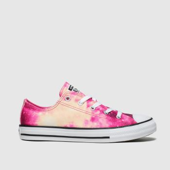 converse burgundy all star lo miss galaxy trainers youth