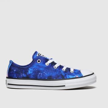 Converse Blue All Star Lo Miss Galaxy Girls Youth
