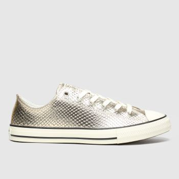 Converse Gold All Star Lo Metallic Snake Girls Youth