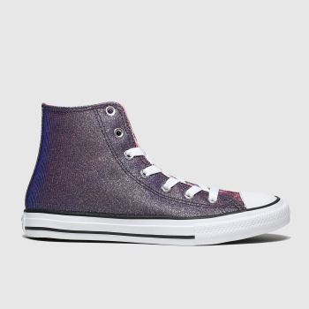 Converse Purple All Star Hi Space Star Girls Youth