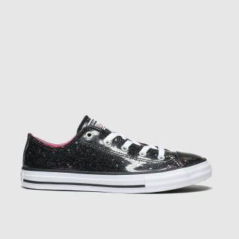converse black all star lo galaxy glimmer trainers youth